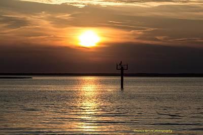 Sunset Over The Bay Art Print