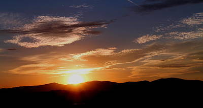 Print featuring the photograph Sunset Over The Blue Ridge by Candice Trimble