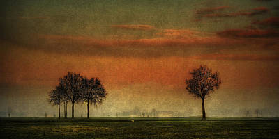 Sunset Over The Country Art Print