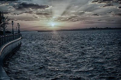 Photograph - Sunset Over The Gulf by Munir El Kadi