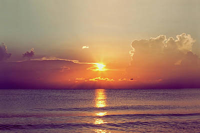 Photograph - Sunset Over The Gulf Of Mexico by Rebecca Nelson