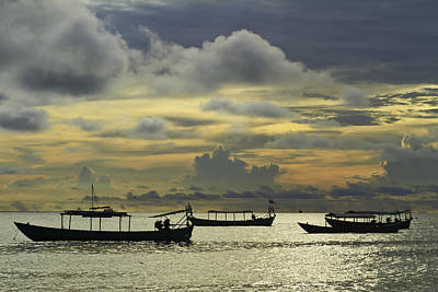 Photograph - Sunset Over The Gulf Of Thailand by David Freuthal