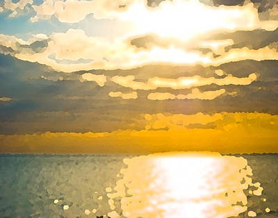 Sunset Over The Gulf Sun 92 Art Print