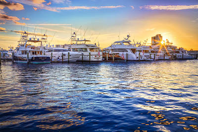 Photograph - Sunset Over The Harbor by Debra and Dave Vanderlaan