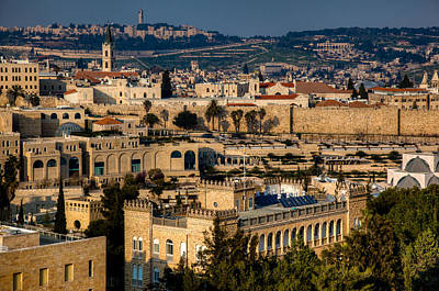 Photograph - Sunset Over The Holy City by Uri Baruch