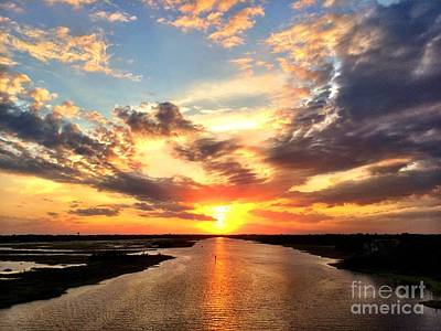 Sunset Over The Icw Art Print by Shelia Kempf
