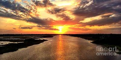 Photograph - Sunset Over The Icw - Wide Angle by Shelia Kempf