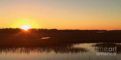 Photograph - Sunset Over The Intracoastal Waterway by Shelia Kempf