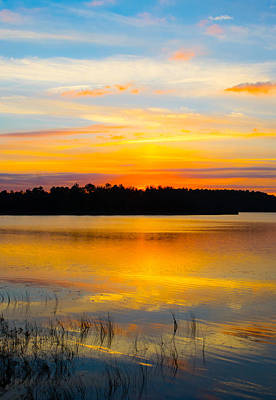 Sunset Over The Lake Art Print by Parker Cunningham