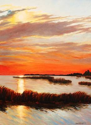Painting - Sunset Over The Marsh by Sarah Grangier