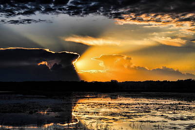 Photograph - Sunset Over The Mead Wildlife Area by Dale Kauzlaric