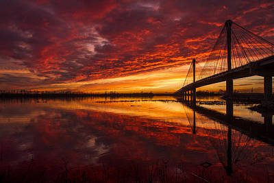 Winter Solstice Photograph - Sunset Over The Mississippi River by Garry McMichael