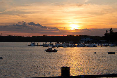 Photograph - Sunset Over The Mouth Of The Saco River by Kirkodd Photography Of New England