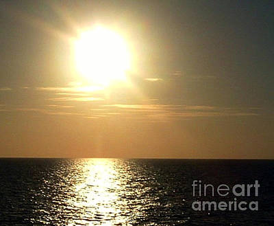 Photograph - Sunset Over The Ocean by Anita Lewis