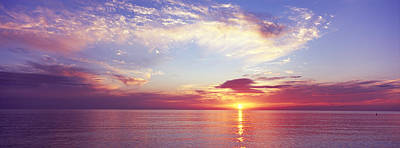 Sunset Over The Ocean, Gulf Of Mexico Art Print by Panoramic Images