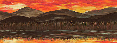 Painting - Sunset Over The Pond by Darice Machel McGuire