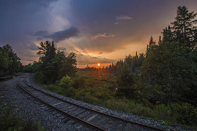 Photograph - Sunset Over The Railroad Tracks II by Chris Whiton