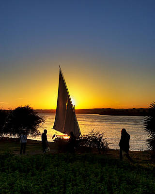 Photograph - Sunset Over The River Nile by Mark E Tisdale