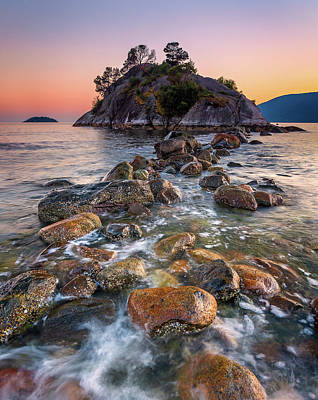 Photograph - Sunset Over The Rocks by Alexis Birkill