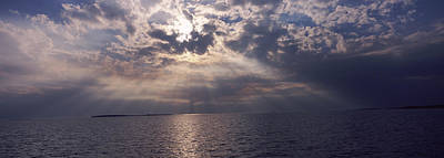 Cedar Key Wall Art - Photograph - Sunset Over The Sea, Gulf Of Mexico by Panoramic Images