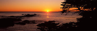 Point Lobos Photograph - Sunset Over The Sea, Point Lobos State by Panoramic Images