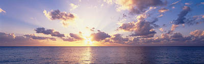 Sunset Over The Sea, Seven Mile Beach Art Print by Panoramic Images