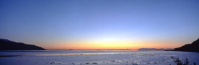Cold Temperature Photograph - Sunset Over The Sea, Turnagain Arm by Panoramic Images