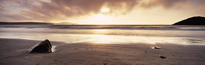 Sunset Over The Sea, Whitesand Bay Art Print by Panoramic Images