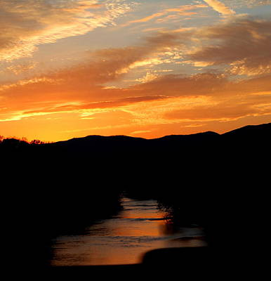 Print featuring the photograph Sunset Over The Shenandoah by Candice Trimble