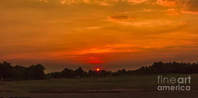 Haybales Photograph - Sunset Over The Sport Complex by Robert Bales