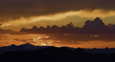 Tucson Photograph - Sunset Over The Tucson Mountains by Susan Degginger