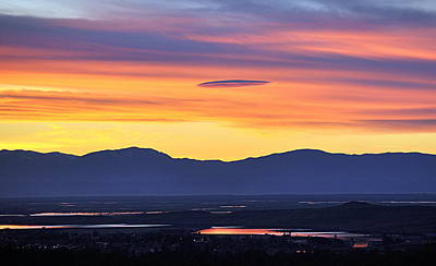 Photograph - Sunset Over The Valley by AJ  Schibig