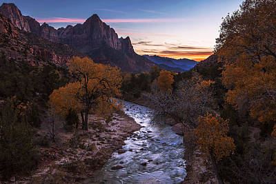 Sunset Over The Watchman Art Print