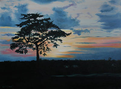 Painting - Sunset Over The Waterway by Jill Ciccone Pike