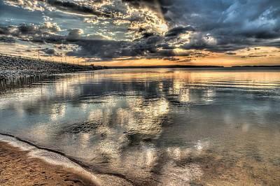 Clarks Hill Lake Photograph - Sunset Over Thurmond by Todd Bennett