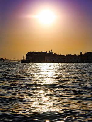Veneta Photograph - Sunset Over Venice by Daphne Sampson