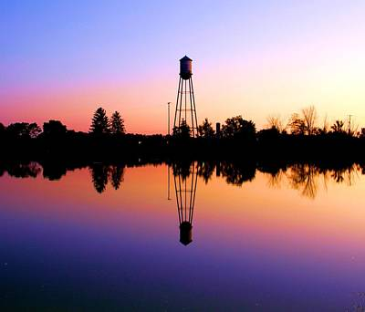 Photograph - Sunset Water Tower by Dan Sproul