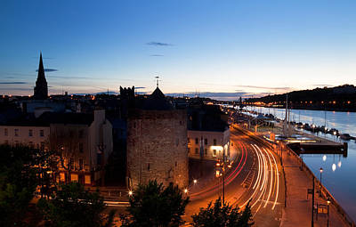 Quay Photograph - Sunset Over Waterford City, County by Panoramic Images