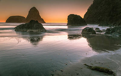 Photograph - Sunset Over Whales Head Beach.....    Brookings Or.  by Tim Bryan