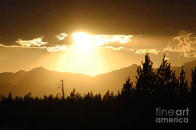 Wall Art - Photograph - Sunset Over Yellowstone  by Susan Montgomery