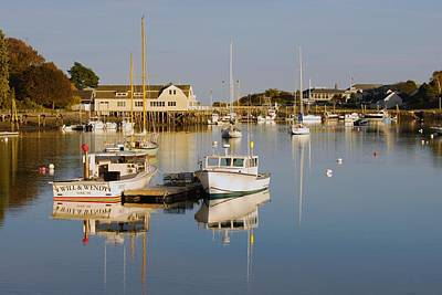 Photograph - Sunset Over York Harbor by Pamela Hodgdon