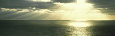Grey Clouds Photograph - Sunset Pacific Ocean San Diego Ca Usa by Panoramic Images