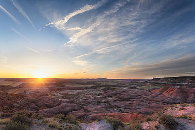 Photograph - Sunset  Painted Desert  Arizona by Nathan Mccreery