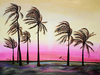 Painting - Sunset Palms And Oasis by Asha Carolyn Young