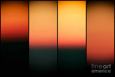 Photograph - Sunset Panels by John Rizzuto