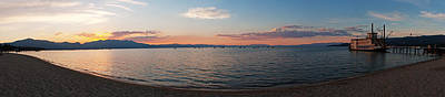 Art Print featuring the photograph Sunset Panorama At Lake Tahoe California by Paul Topp
