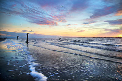 Netting Photograph - Sunset Paradise Jekyll Island  by Betsy Knapp