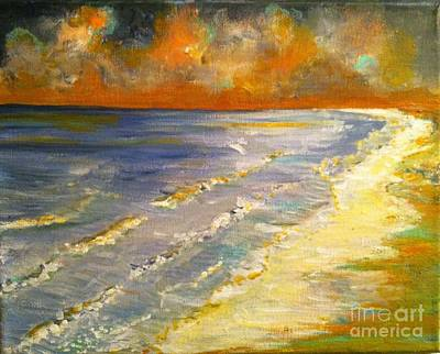 Painting - Sunset Passion At Cranes Beach by Jacqui Hawk