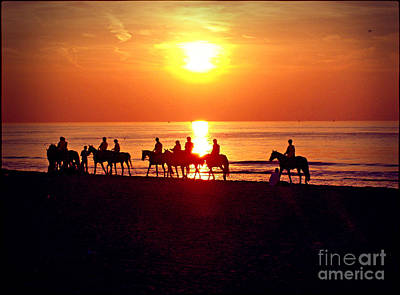 Sunset Past Time Art Print