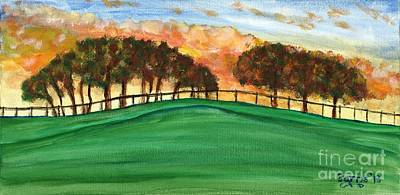 Sunset Pasture Art Print